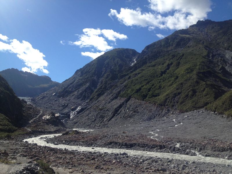hike to Franz Josef Glacier New Zealand