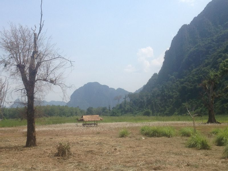 hiking in vang vieng