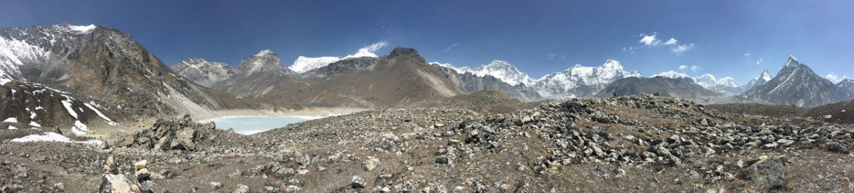 Gokyo Lake viewpoint including Mount Everest