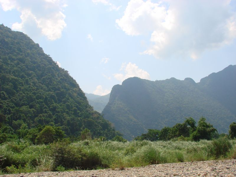 Hiking Between The Beautiful Limestone Cliffs of Vang Vieng