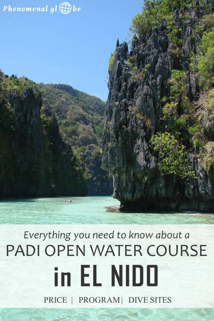 Read everything you need to know about doing a PADI Open Water Course in El Nido, the Philippines. Download the 3-day program, read about the costs of the course and what's included and check out the map with dive sites. The underwater world in the Philippines is phenomenal and I can absolutely recommend getting your PADI in El Nido! #ScubaDiving #ElNido #PADI