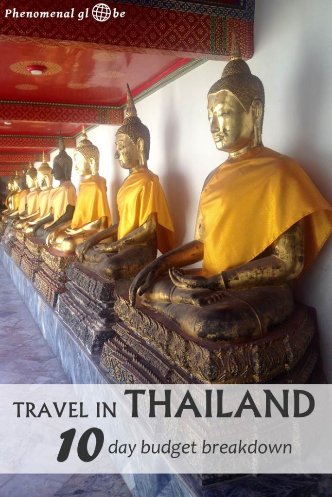 I traveled with my husband around Thailand for 10 days, spending 2222THB (€60/$67) on an average day. Read all about the costs for accommodation, transport, food & drinks and activities on Phenomenal Globe Travel Blog.
