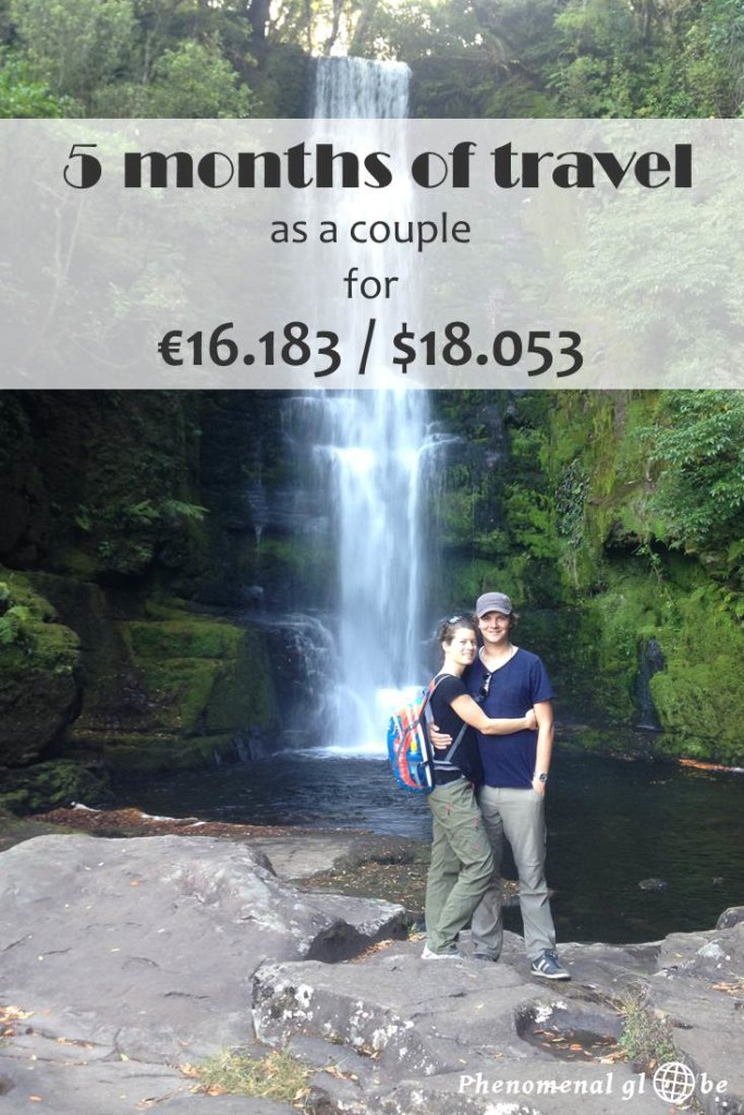 Traveling around New Zealand and Southeast Asia for 5 months cost us €16.263/$18.141. Check the detailed budget breakdown per country and category on Phenomenal Globe Travel Blog.