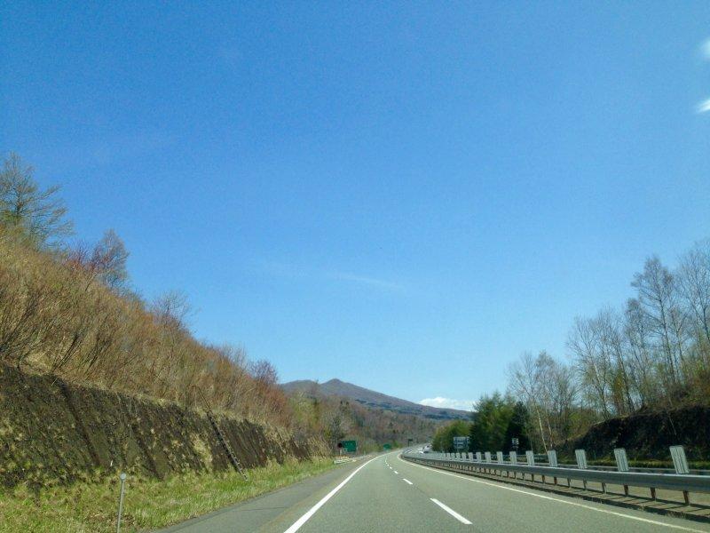 Driving on Hokkaido Japan