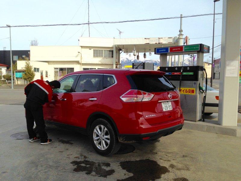 Gas station Hokkaido Japan