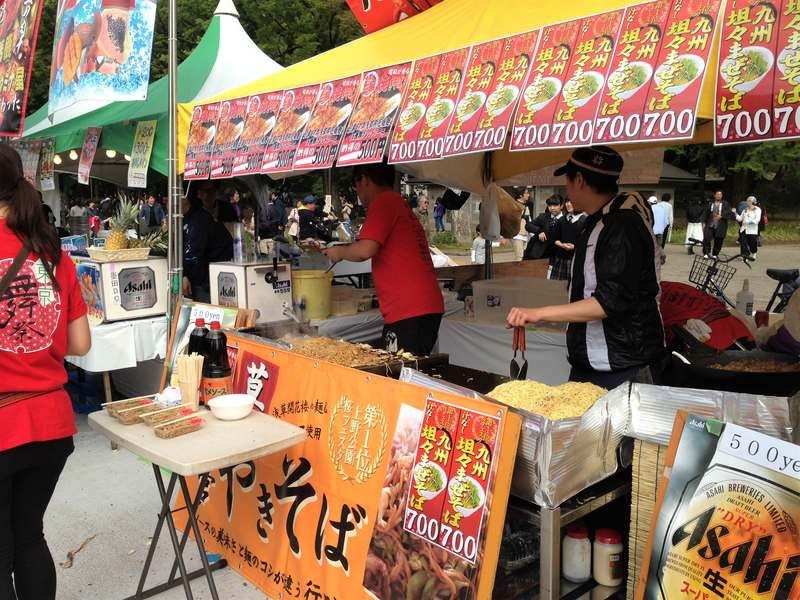 Japanese food stall in Ueno Park Tokyo