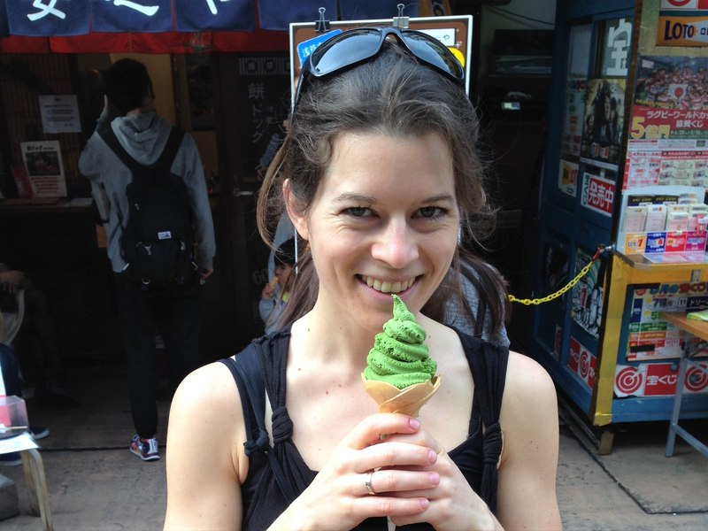 Matcha ice cream - best Japanese food