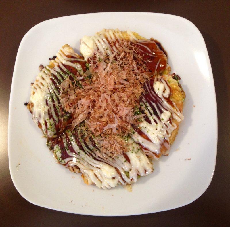 Okonomiyaki from a small restaurant in Noboribetsu on Hokkaido
