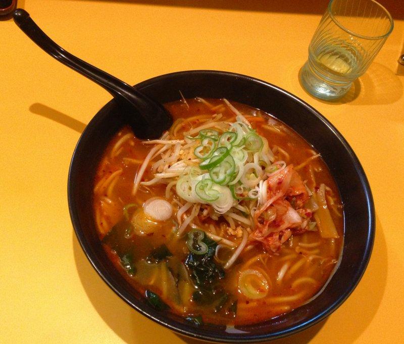 Volcanic ramen - a spicy bowl of Hokkaido ramen