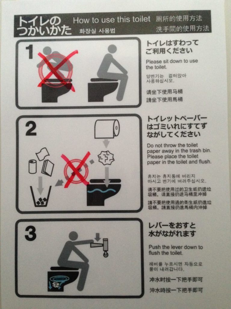 How to use the toilet in Japan