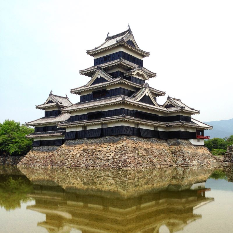 Matsumoto Castle - black wooden castle in Japan