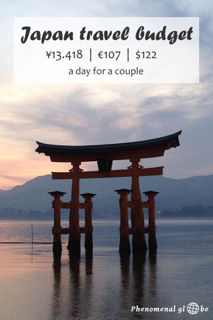 How to travel Japan on a budget? Check out this detailed budget breakdown including the costs for accommodation, transport, food & activities in Japan. Find out how to travel Japan for ¥13.418 / €107 / $122 a day as a couple. #Japan #Budget #Travel
