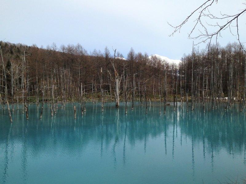 Shiragane Blue Pond Hokkaido Japan