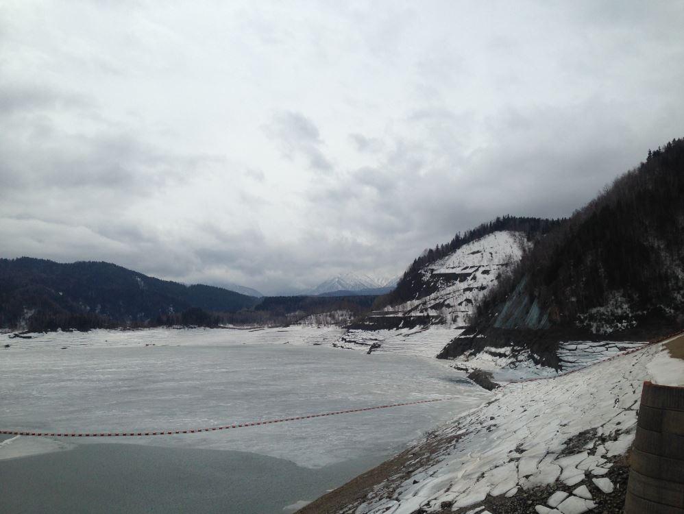 Cold Hokkaido Japan dam