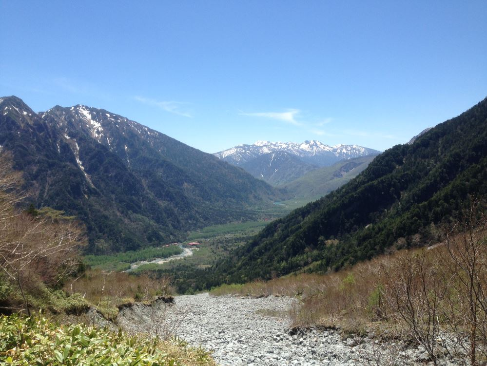 Kamikochi valley view from Dakesawa hike Japanese Alps