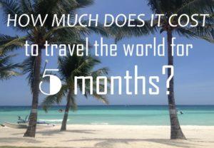 5 Month Travel Budget Around The World
