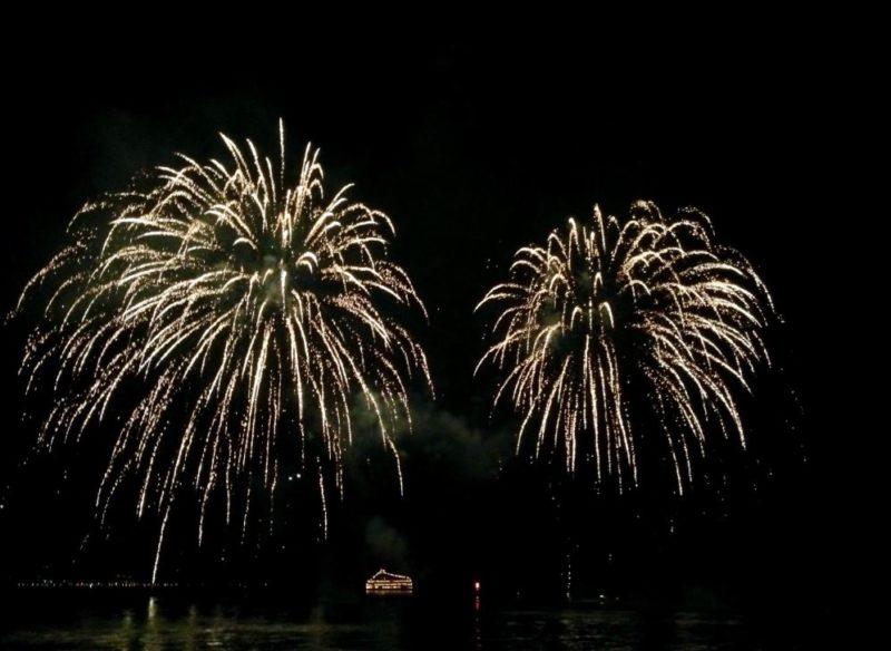 Fireworks Lake Toya Toyako Hokkaido Japan