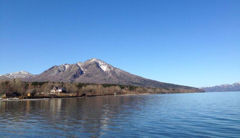 Nature trail Lake Shikotsu Hokkaido Japan