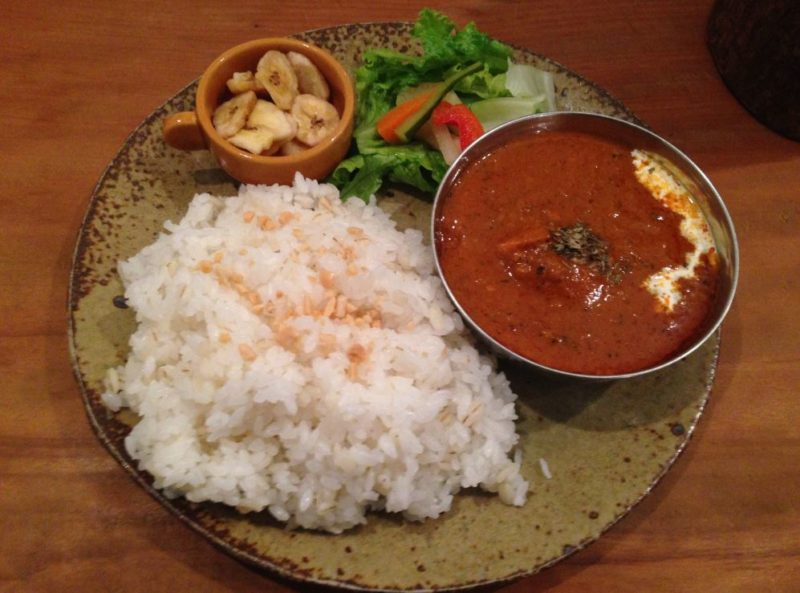 Where to eat in Koyasan - Thai curry at Koyasan Guesthouse