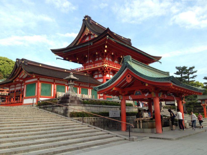 Impressive temples at Inari Fukushi in Kyoto