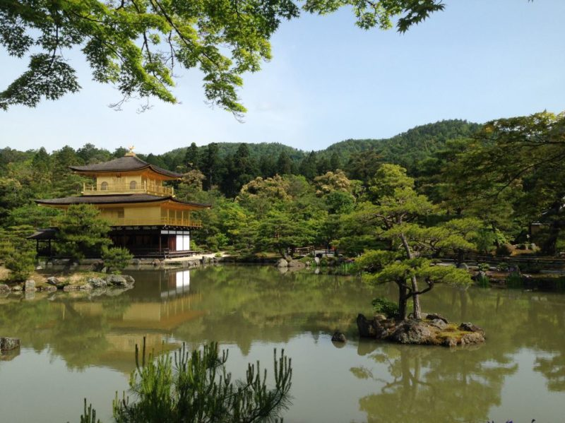 Kinkakuji temple, also known at the Golden Pavilion, is one of the best things to see in Kyoto