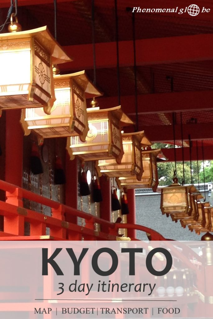 The perfect 3-day itinerary for Kyoto with the best things to do in Kyoto (Kinkaku-ji, Fushimi Inari Taisha, Arashiyama Bamboo Forest and much more), how much to spend in Kyoto, how to get around in Kyoto and where to eat delicious food! Including downloadable map, Kyoto highlight checklist and budget infographic. #Kyoto #Japan