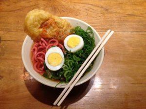 Food at Hiroshima station cheap restaurant