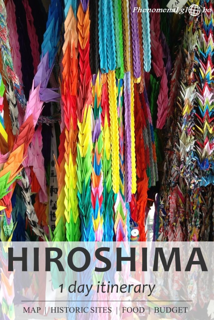 Planning a trip to Hiroshima? Read this 1-day Hiroshima itinerary with budget information, map with things to see in Hiroshima, accommodation and food advice. Hiroshima is a city with a tragic history. Places you must visit are the Atomic Bomb Dome, the Children's Peace Monument and the Hiroshima Peace Memorial museum. #Hiroshima #Japan