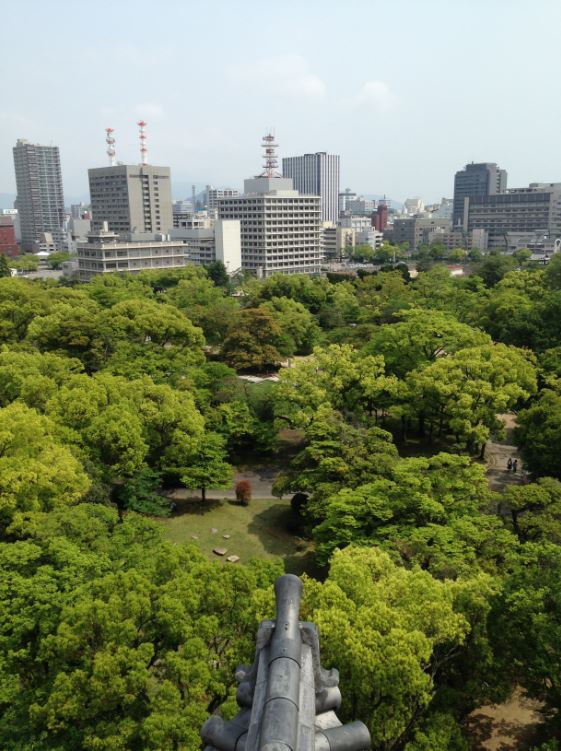 View from Hiroshima Castle - Things to do in Hiroshima