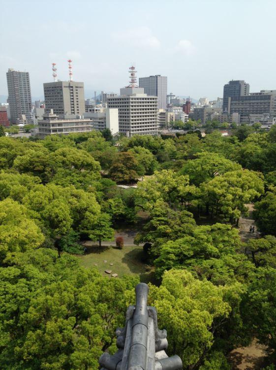 Hiroshima Castle sightseeing Japan