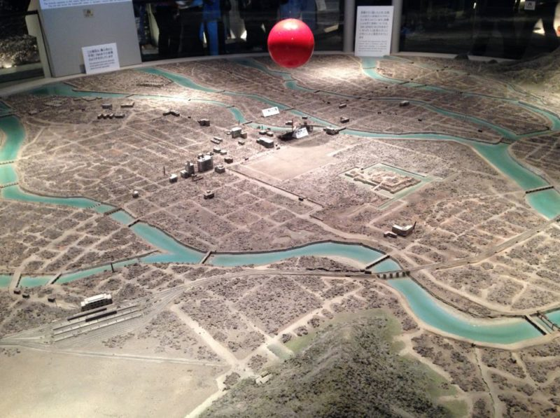 Map of Hiroshima after the bomb