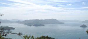 Miyajima island view from Mount Misen hike