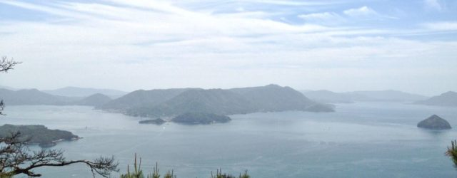 Miyajima island view from Mount Misen hike