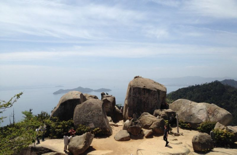 Top of Mount Misen Miyajima Japan