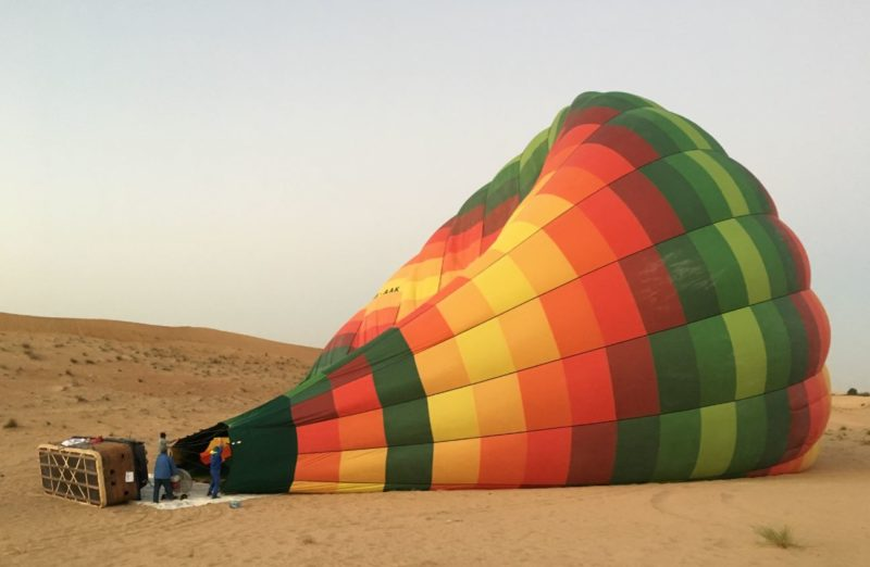 Hot air balloon flight Dubai