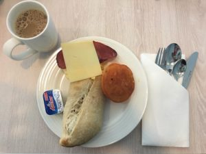 Breakfast at Premier Inn IBN Batutta Mall Dubai Hotel