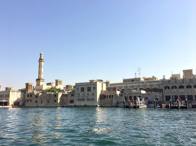 Historic neighborhood Dubai abra ride