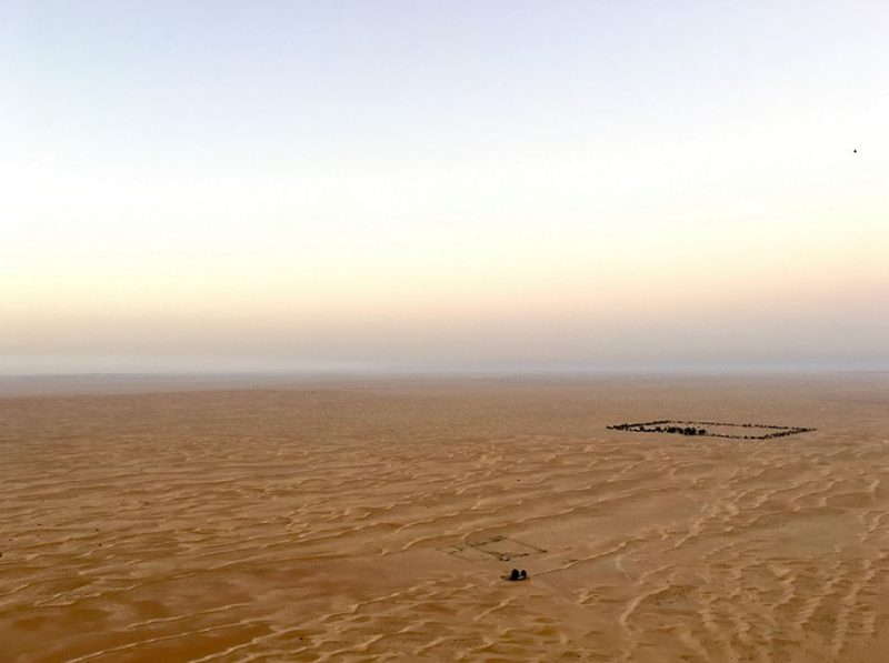 Hot air balloon flight Dubai desert