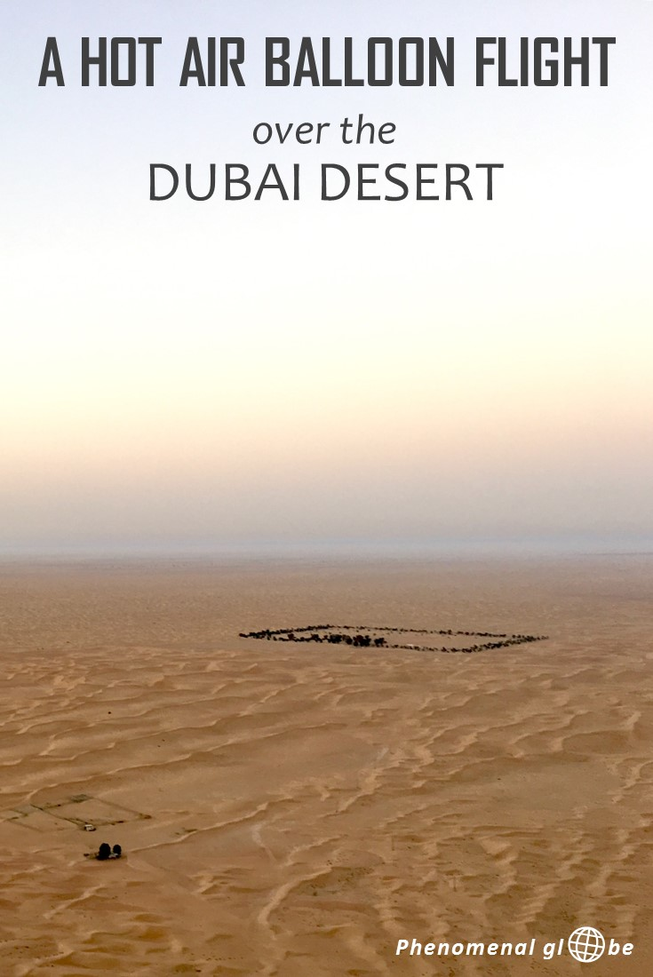 Making a hot air balloon flight had been on my bucket list for years & my dream came true in Dubai: floating over the desert was a truly magical experience! Check out pictures and a short movie to experience what it's like to fly over the desert. #hotairballoon #UAE #Dubai
