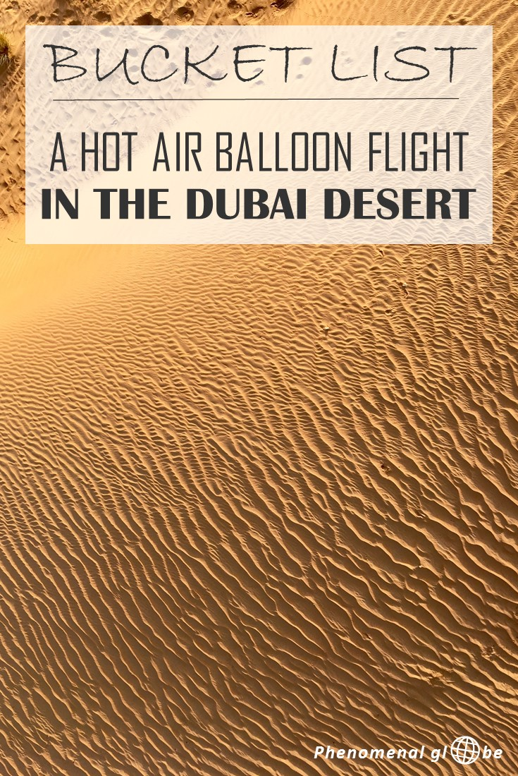 Making a hot air balloon flight had been on my bucket list for years & my dream came true in Dubai: floating over the desert was a truly magical experience! Check out pictures and a short movie to experience what it's like to fly over the desert.