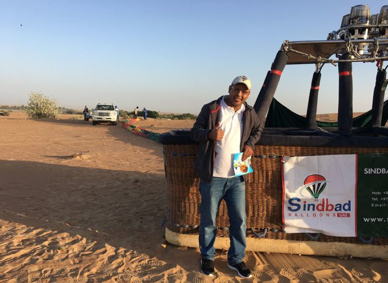 Mahmoud pilot of hot air baloon Dubai