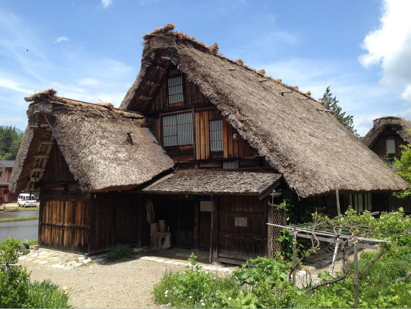 Gassho-zukuri farmhouse in Shirakawago village in the Japanese alps