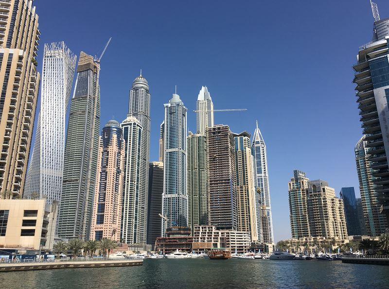Skyscrapers Dubai Marina - best itinerary for Dubai