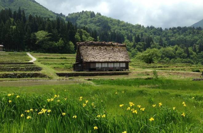 Village of Shirakawago Japanese alps