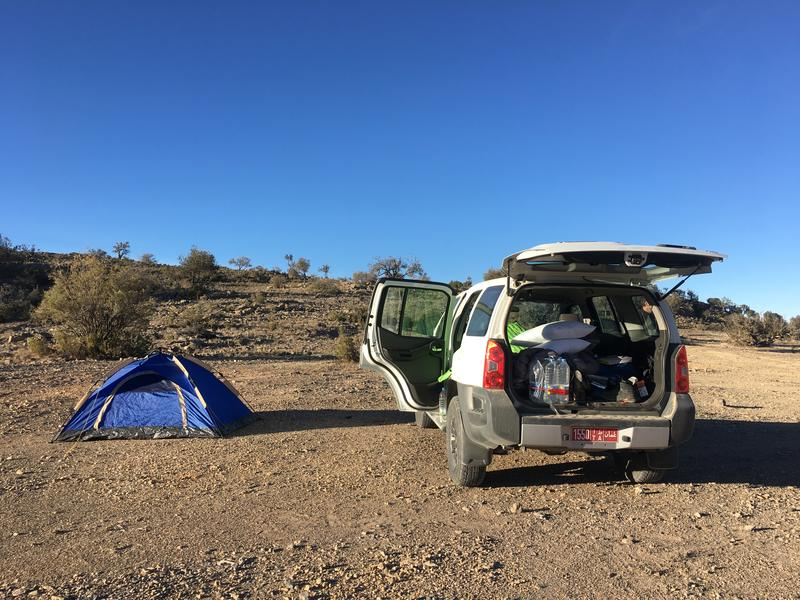 Camping on the Jebel Akhdar plateau 4wd only