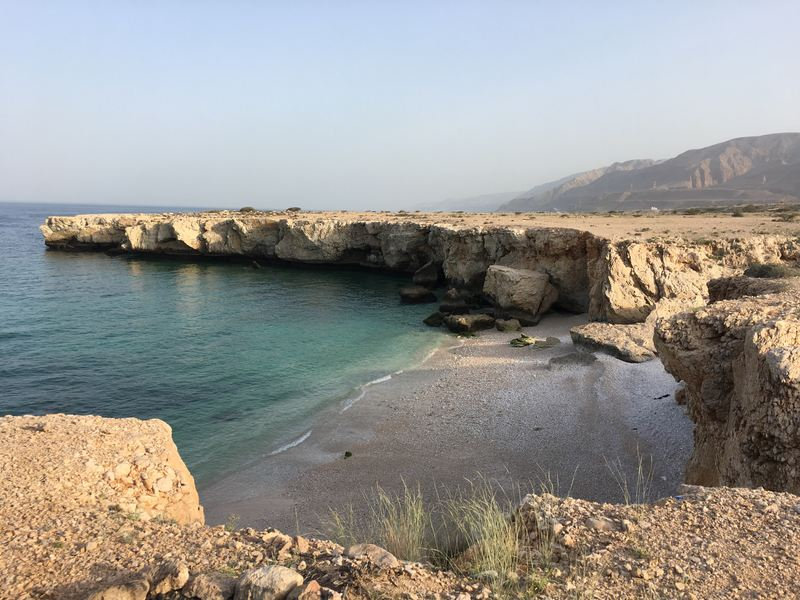 Free campsite near Wadi Tiwi and Wadi Shab next to the ocean