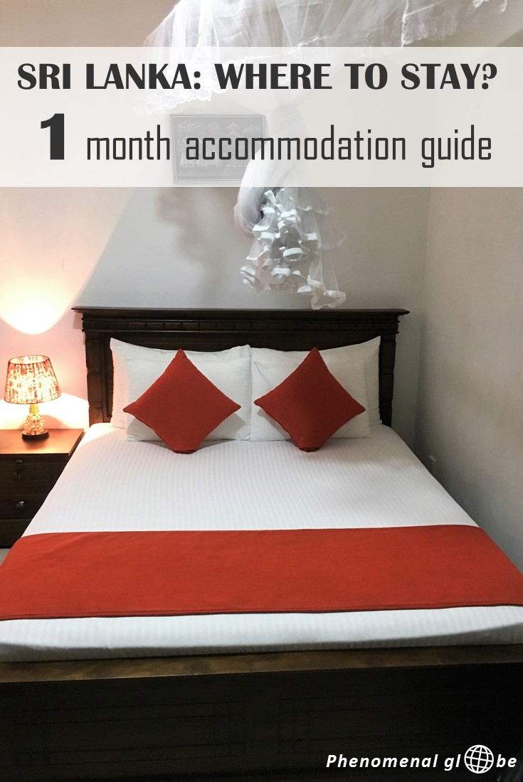 Looking for a place to stay in Sri Lanka? Check my accommodation guide! We stayed at 16 different accommodations, prices were between €6 and €25 per night. #SriLanka #accommodation
