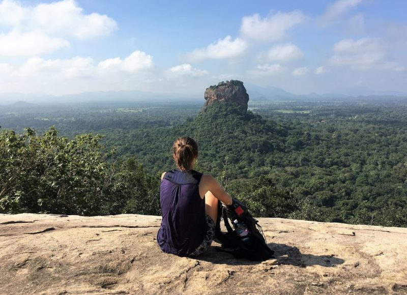 View over Lion Rock Sigiriya from Pidurangala Rock