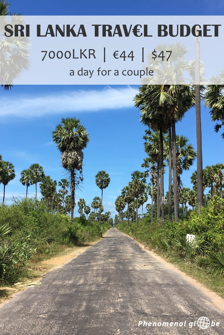 Travel Sri Lanka on a budget! Our Sri Lanka daily budget was €44 per day for us as a couple (€22 per person). Check out the post and infographic for more details (info about accommodation, transport, food, activities, visa and more). #SriLanka #TravelBudget