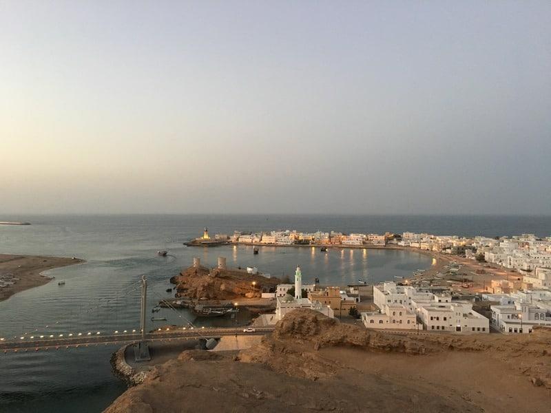 Sur and Al Ayjeh coastal village Oman Middle East lighthouse